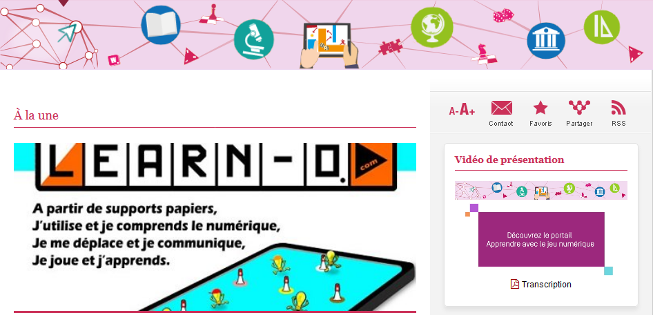 Screenshot 2019 11 29 Apprendre avec le Jeu Numérique