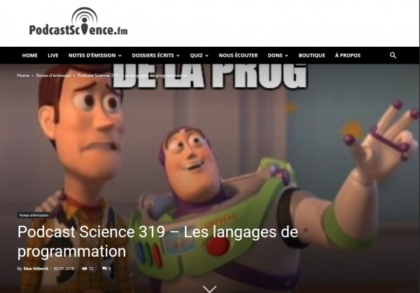 Podcast Science 319 – Les langages de programmation